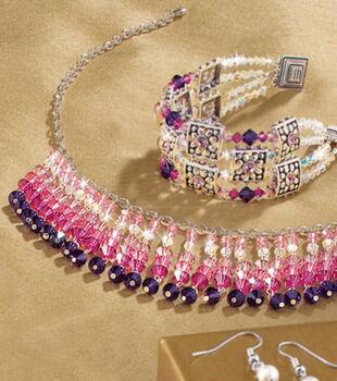 Fuchsia Dangle Necklace