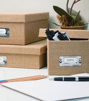 Burlap Storage Boxes