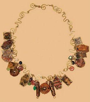 Faux Art Necklace