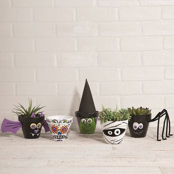 Halloween Spooky Pots