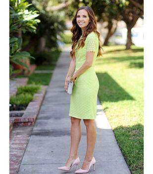 Lime Lace Pencil Dress