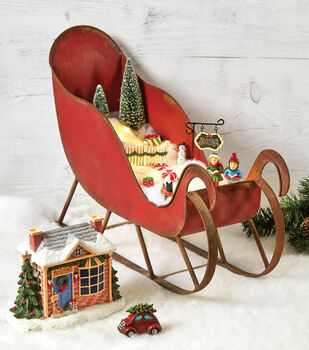 How To Make A Christmas Fairy Garden Sled