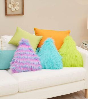 Tear Drop Fur Pillow