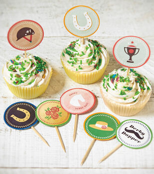 Derby Cupcake Pick Printables