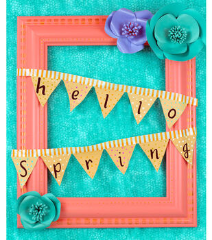 "How To Make A ""Hello Spring"" Frame Wreath"