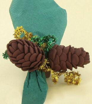 Clay Pine Cone Napkin Holders