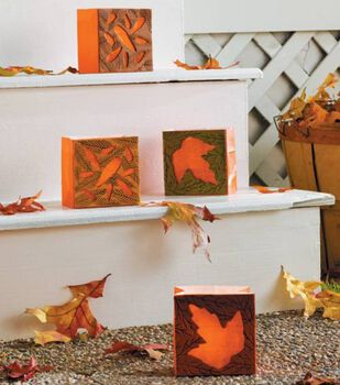 Autumn Leaves Luminaries