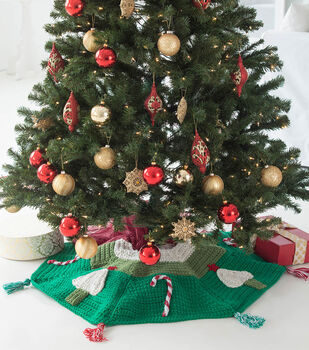 How To Make A Candy Cane Crochet Tree Skirt