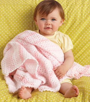 Pink V-Stitch Baby Throw