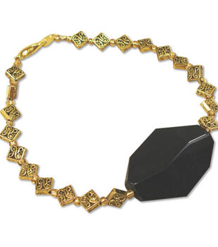Blue Moon Beads               Black & Gold Bracelet