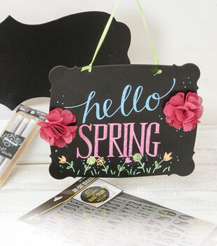 Hello  Spring Chalkboard Sign