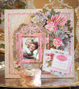 Camilla Rosettes and Frames Scrapbook Page