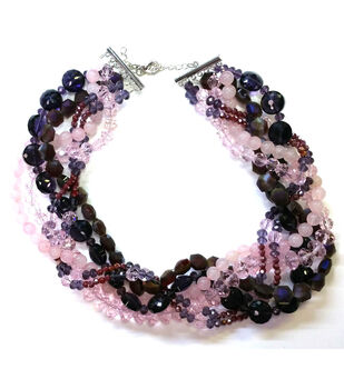 Handmade Jewelry Design Ideas how much have you addicted to the handmade crafts the pearl necklace design ideas today Burgundy And Plum Twisted Necklace
