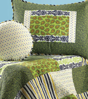 Green Paisley Block Quilt