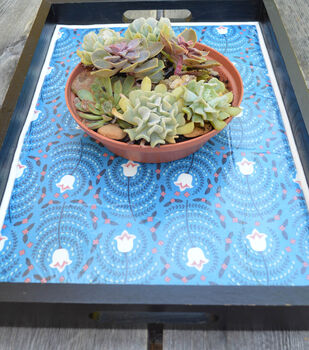 How To Make A Lined Floral Serving Tray