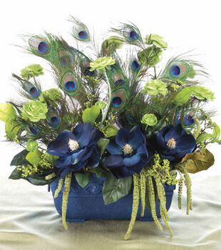 Peacock Feather Arrangement