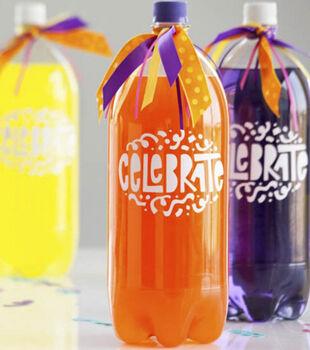 Cricut Mini - Celebrate Vinyl Soda Bottle Wrap