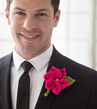 How To Make A Crochet Boutonniere