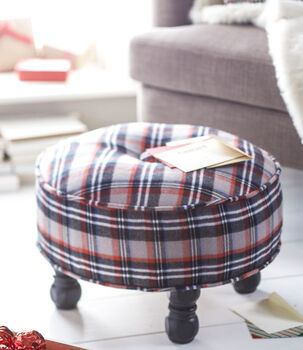 Makers Guide: Plaid Ottoman