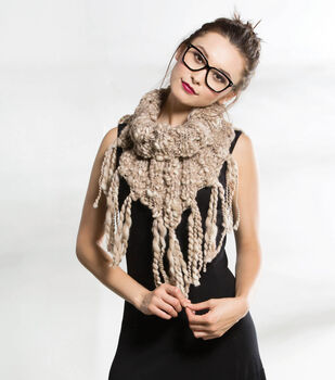 Taupe Roped Cowl