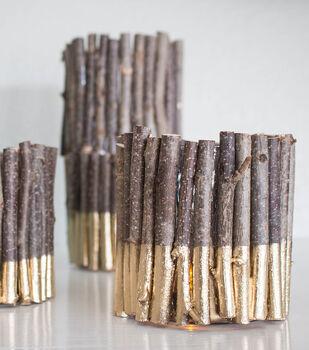 Make a Gold Branch Candleholder