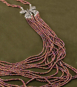 Seed Bead Butterfly Necklace