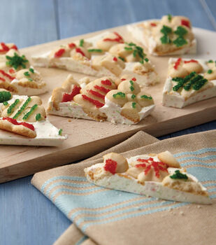 Festive Spritz Cookie Christmas Bark