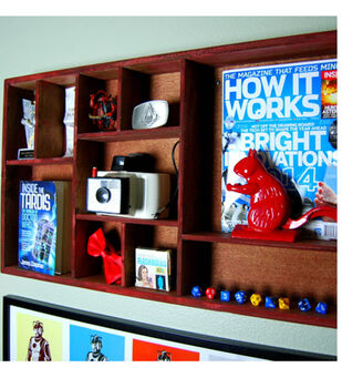 Boys Room Decoration - Perfect Red Shelf