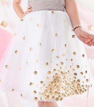 Gold Flower Tulle Skirt