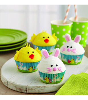 Easter Chick and Bunny Cupcakes