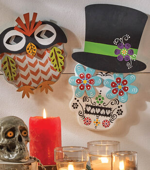 Sugar Skull and Owl Mask