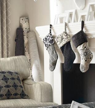 How to Make Black & White Stockings