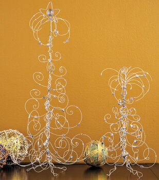 Wire & Crystal Tabletop Trees