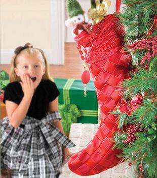 Woven Christmas Stocking