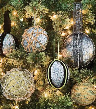 Sequin-Trimmed Ornaments