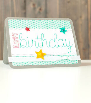 Happy Birthday Zig Zag Card