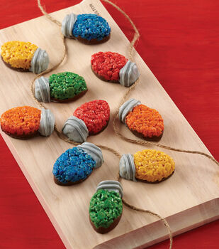 Christmas Light Bulb Cereal Treats
