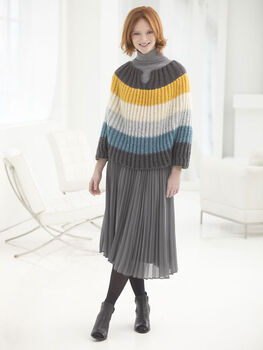 How To Make A Flattering Striped Poncho