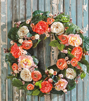 Easy Floral Wreath