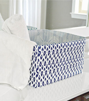 Reversible Fabric Storage Bin