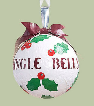 Holly Duct Tape Ornament