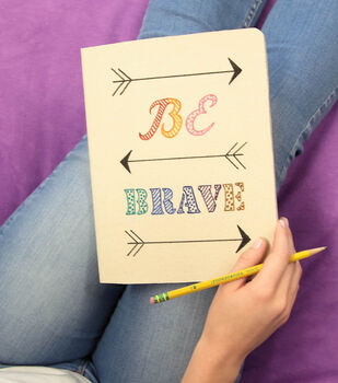 "How To Make A ""BE BRAVE"" Canvas Journal"