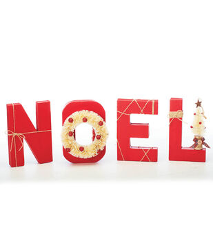 How To Make NOEL Paper Mache Letters