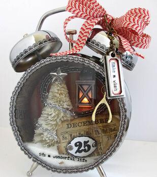 Christmas Assemblage Clock