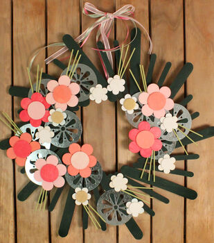 How To Make A Spring Flower Wreath