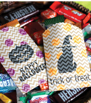 Stamped Halloween Treat Bags