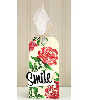 How To Make A Simply Stamped Rose Tag