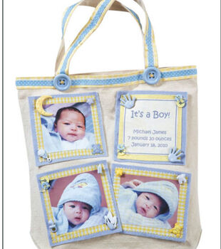 Birth Announcement Tote