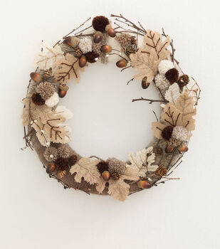 How to Make an Autumn Leaves Wreath