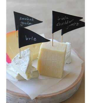 How to Make Chalkboard Appetizer Markers
